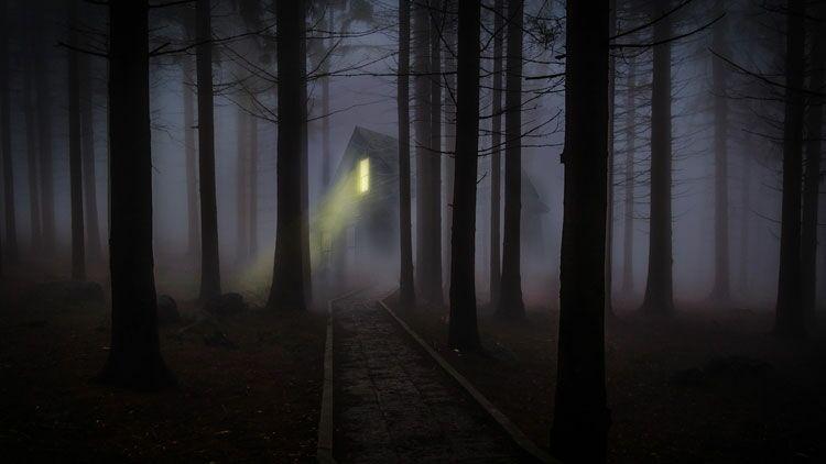 nuit noire, sombre, noir, peur, Halloween
