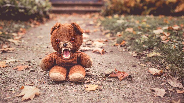nounours, peur, halloween