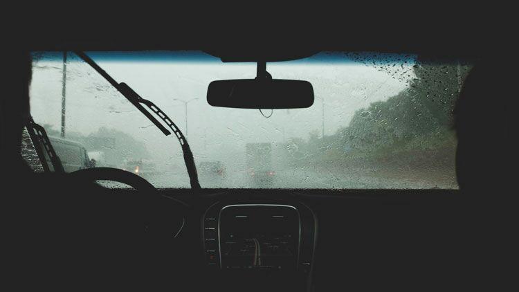voiture, pluie, pneu, essuie-glace