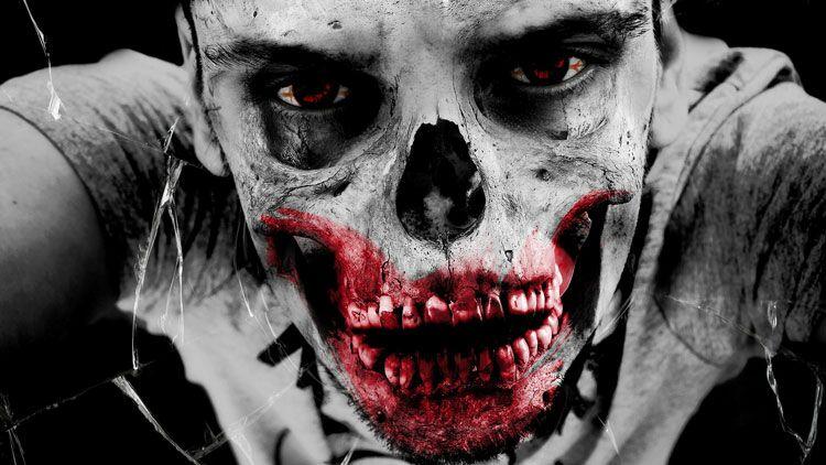 zombie, sang, halloween