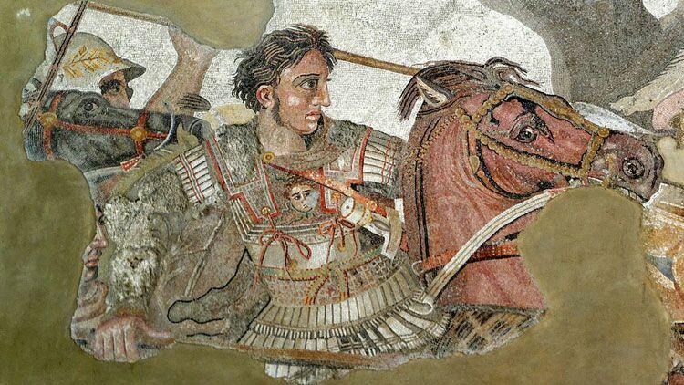 alexandrin, Alexandre Le Grand, Pompéi, fresque