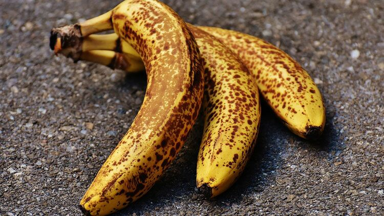 bananes, noir, frigo
