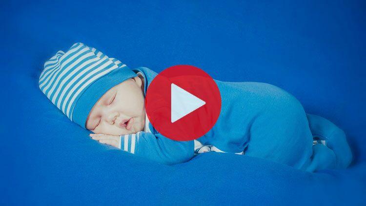 bébé, dormir, bleu