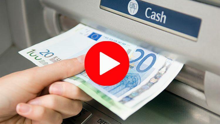 billet, argent, distributeur automatique de billets