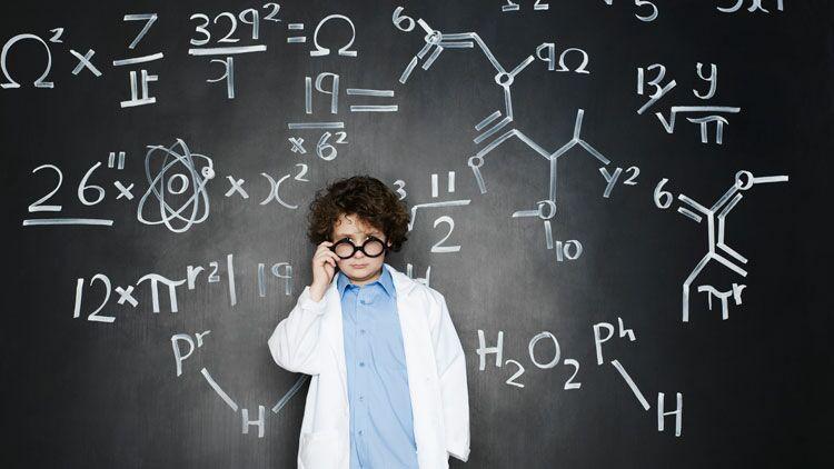 sciences, élève, tableau, école