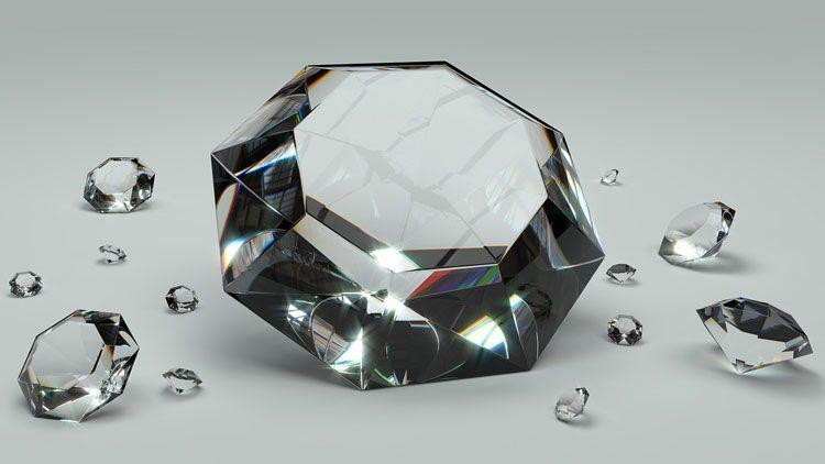 diamants, saphir, pierre précieuse