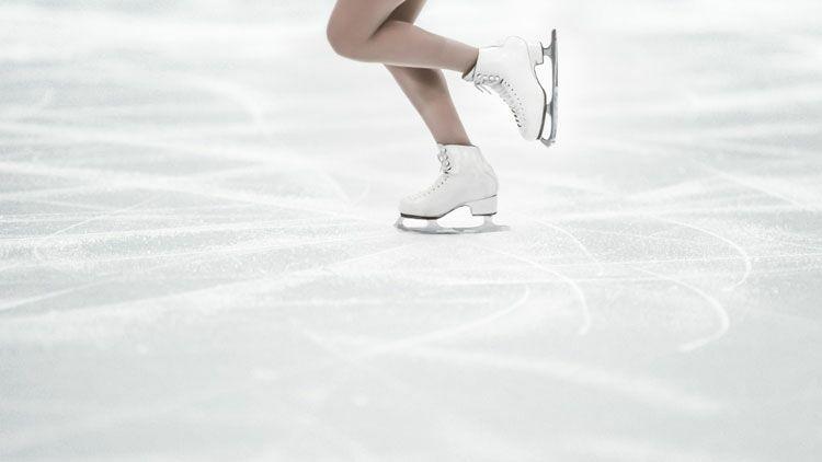patin à glace, tournis, patineuse
