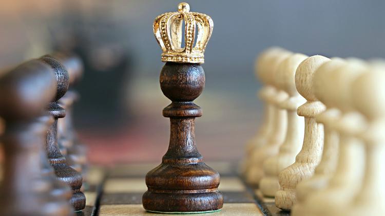 reines, échecs, pions