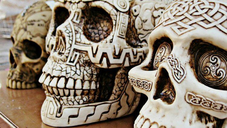 toussaint, squelette, tête de mort