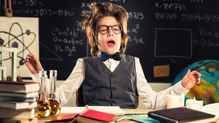 chimie, enfant, école