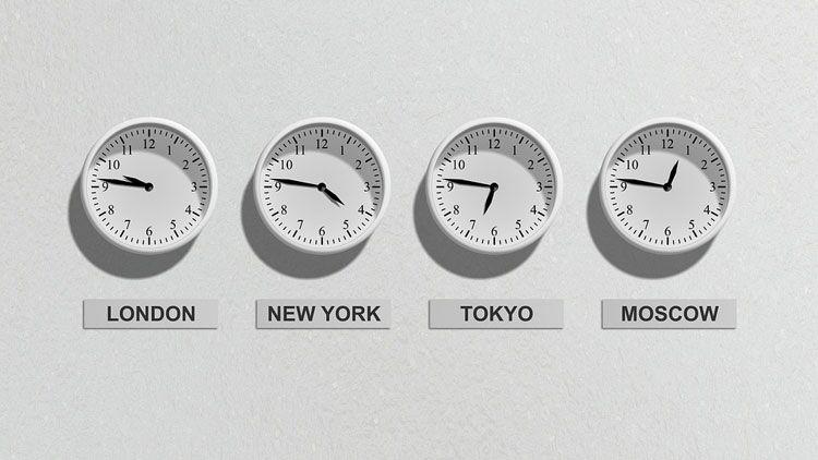 horloge, temps, décalage horaire