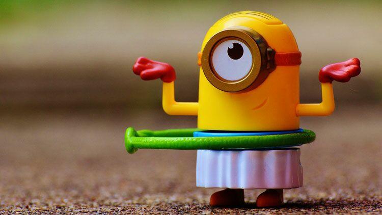 minions, jouet, figurine