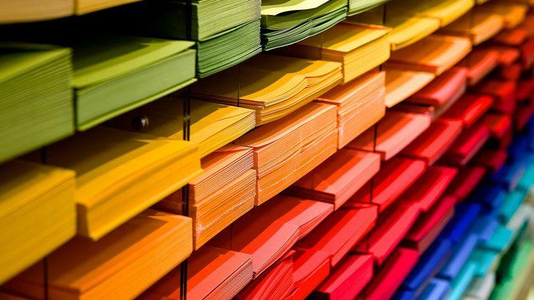 papier, couleurs