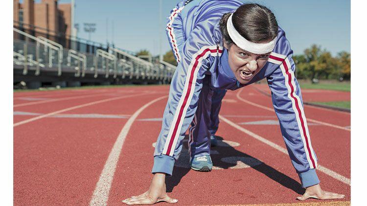 record, points de côté, athlète, courir, athlétisme
