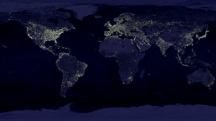 Terre, nuit, lumières