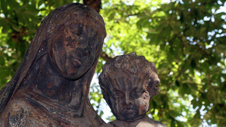 statue, vierge Marie