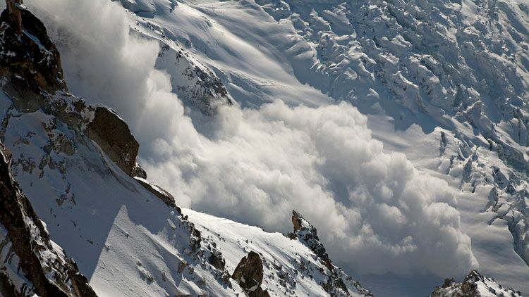 avalanche, neige, montagne