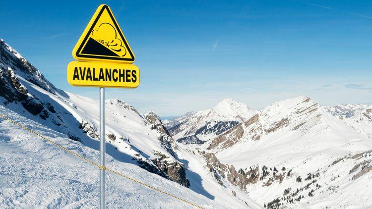 avalanche, panneau, prévention, risque
