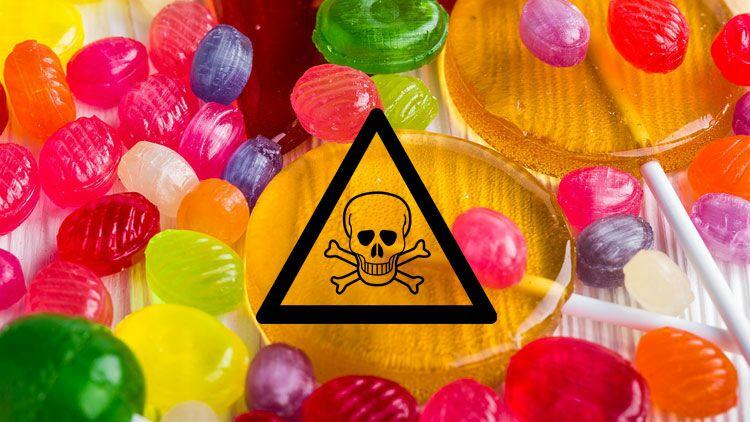 bonbons, nanoparticules, dioxyde de titane