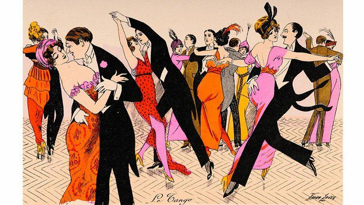 danse, dessin, tango
