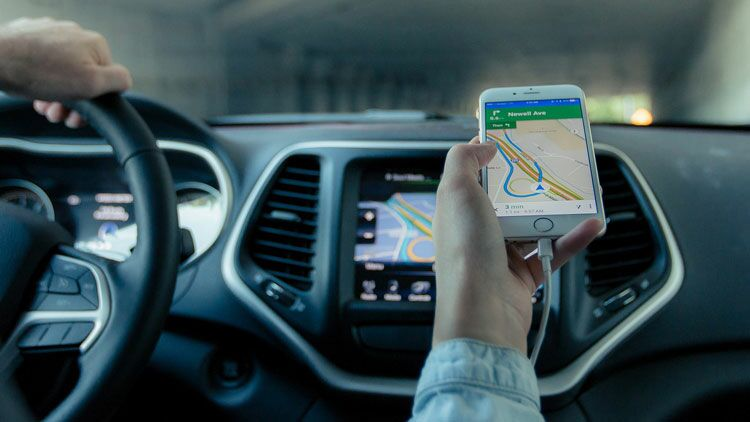 gps, voiture, smartphone