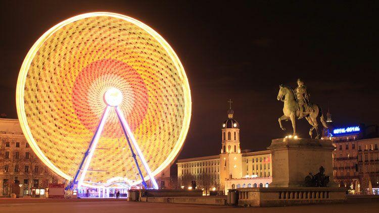 grande roue, Lyon, place Bellecour, 8 décembre,