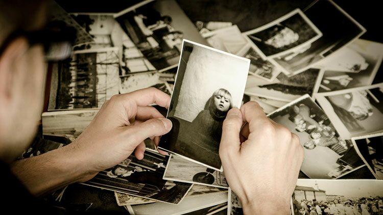 mémoire, oubli, photo, souvenir