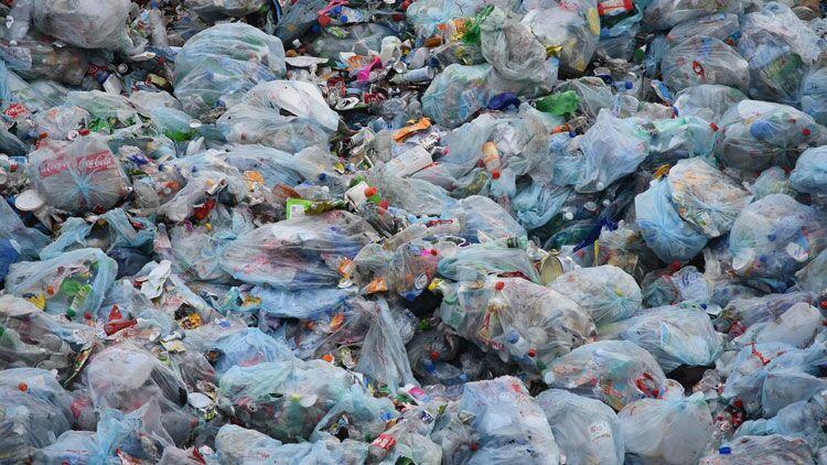 sac plastique, poubelle, dechets