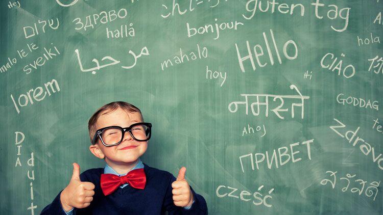 polyglotte, langues, enfant, école, langue