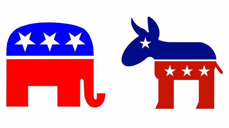 âne démocrate, éléphant républicain, élections américaines