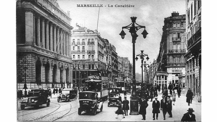Canebière, Marseille, carte postale