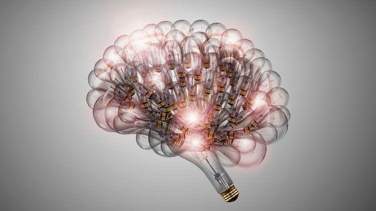 électroencéphalographie, cerveau, ampoule, idée