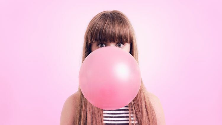 chewing-gum, bulle