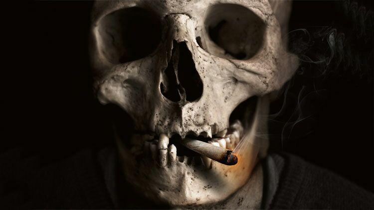 tabac, cigarette, mort, fumer, squelette