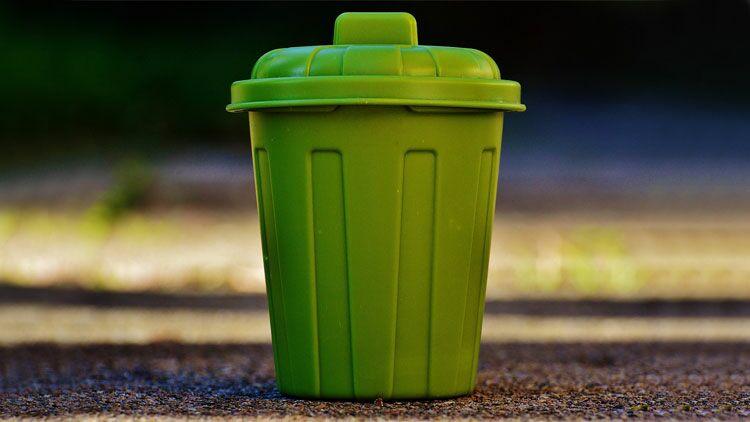 mal à jeter, poubelle, déchets