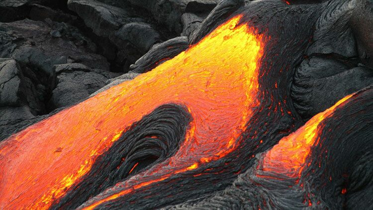 volcan, lave