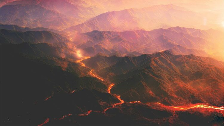 volcan, magma