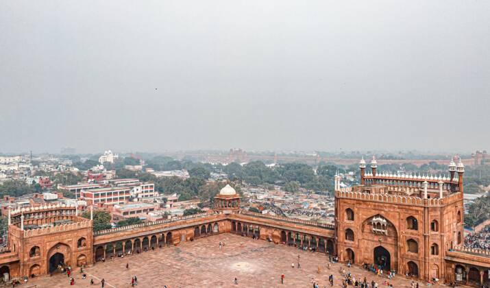 Coucher de soleil au Taj Mahal pour Macron en Inde