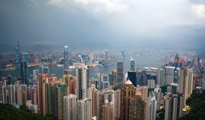 Le typhon Hato frappe Hong Kong
