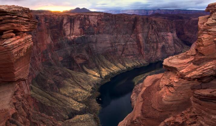 De rares chutes de neige changent le désert de l'Arizona en paysage glacé