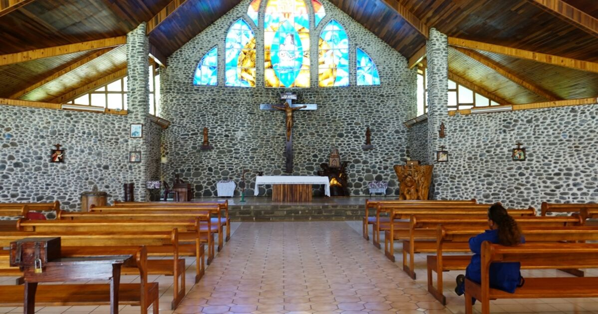 Les Marquises - Tahuata Vaitahu - Eglise Sainte Mère... - Geo.fr