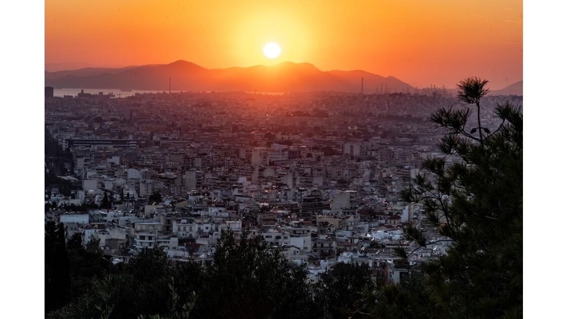 Athènes au coucher du soleil