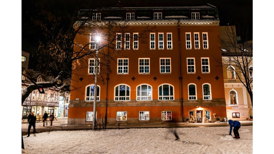 Soirée neige à Tromso