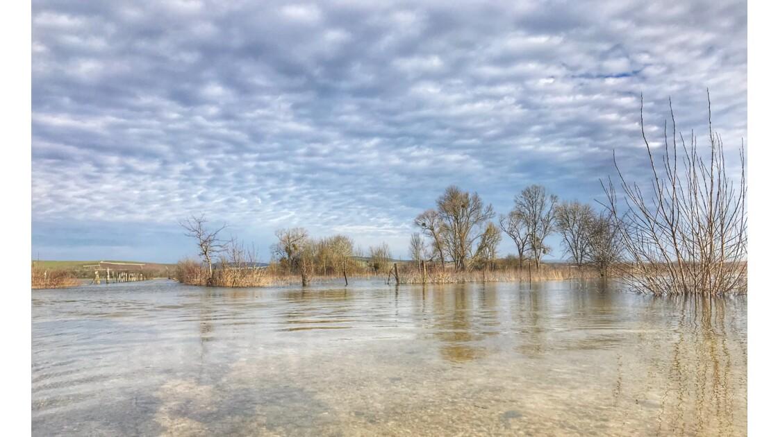 La plaine inondée vallée de la marne