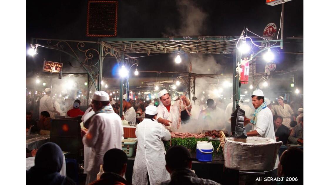 Saucisses chaudes à Djama E Fna