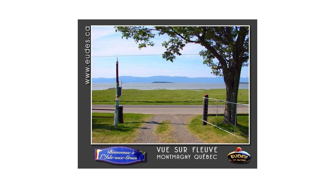 Vue sur le fleuve St-Laurent