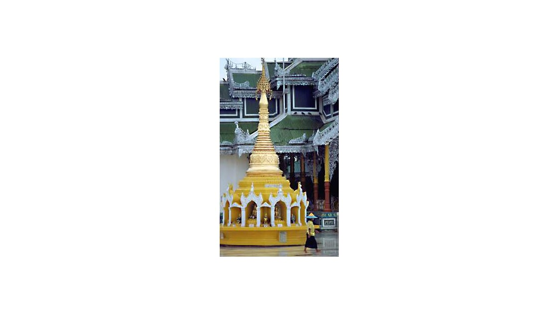 Birmanie -  pagode shwedagon, Rangoon,
