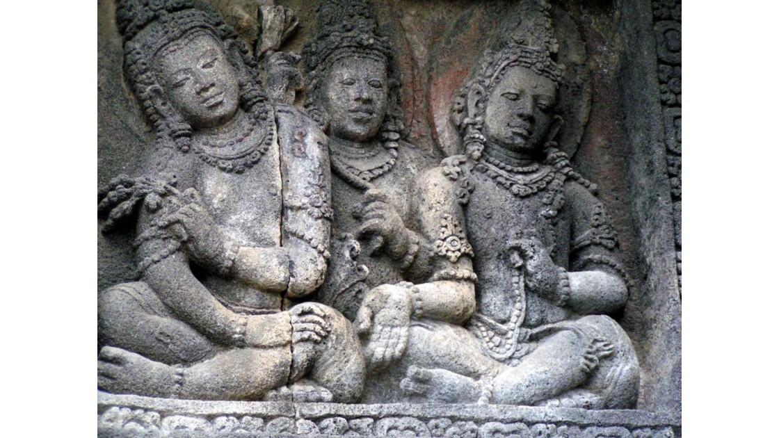 Bas relief de Prambanan