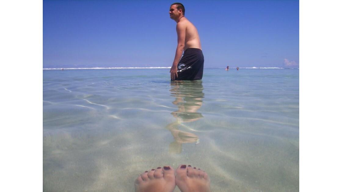 Mes pieds dans l'eau