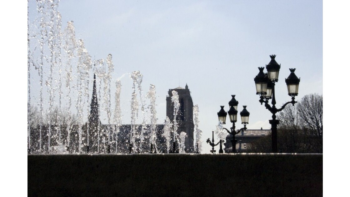 Jets d'eau de l'Hôtel de Ville